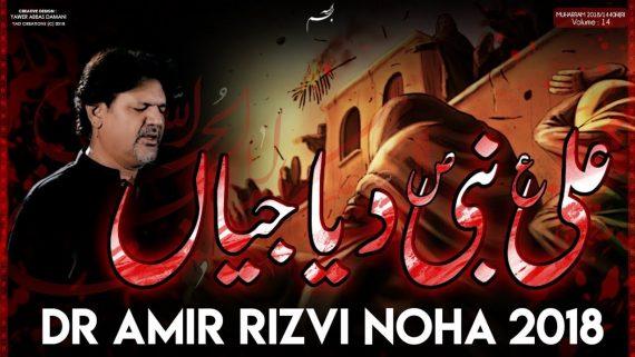 Ali Nabi Diya Jayain – Dr. Amir Rizvi New Noha 2018-19 – Chehlum Noha – Nohay 2018 – Arbaeen 2018